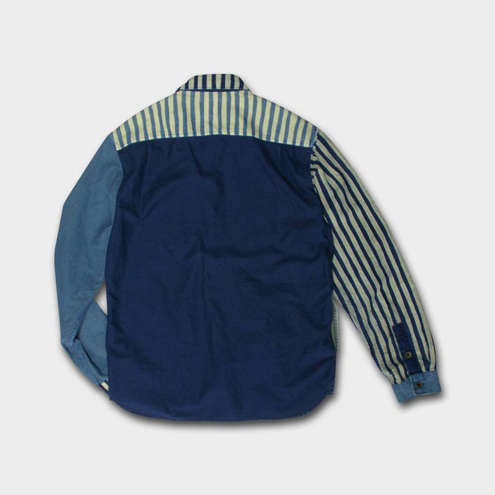 Half Crazy Hand-Stripe Shirt Jacket