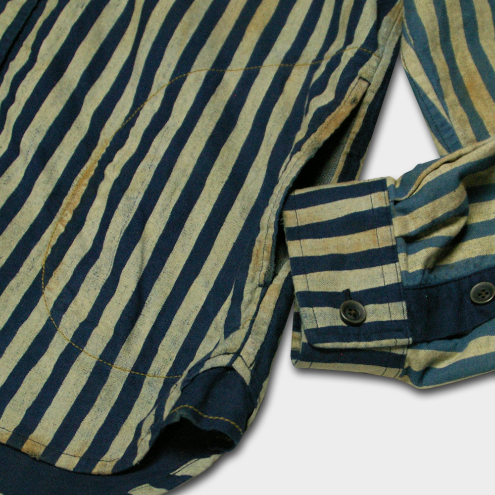 Crazy Hand-Stripe Shirt Jacket