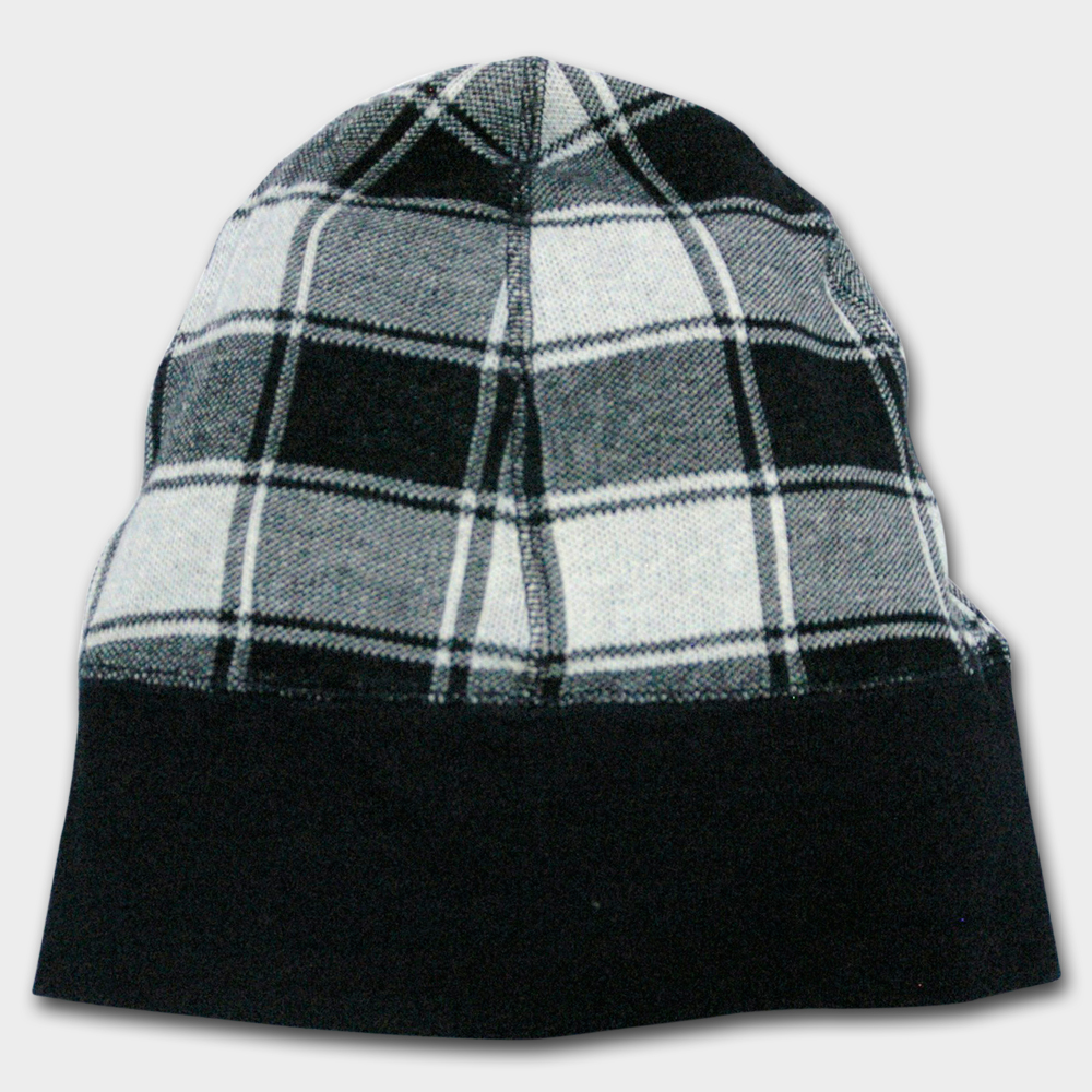 Indigo Plaid watch cap