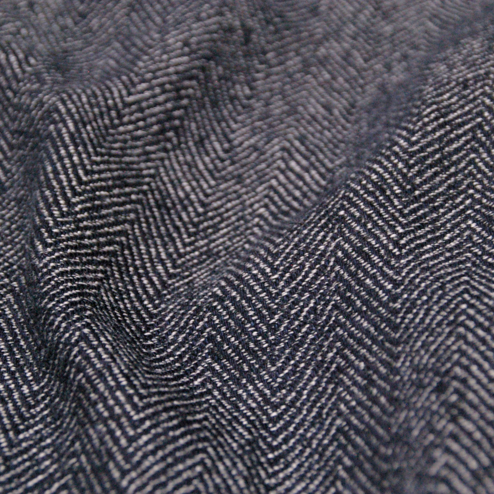 Indigo herringbone pants